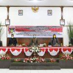 Wabup RD Hadiri Rapat Paripurna Penyampain KUA PPAS Kabupaten Minahasa
