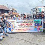GML Gelar Aksi Sosial Pembagian Hand Sanitizer Dan Masker Di kota Tomohon