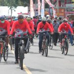 BRI Bersama Forkompinda Sulut Gelar Fun Bike Dan Menebar Benih Ikan Di Danau Tondano