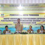 Wali Kota Eman Minta Perangkat Daerah Proaktif Dan Serius Susun LPPD Tomohon 2018