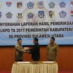 Wakil Ketua DPRD Tomohon Hadiri Penyerahan LHP Atas LKPD T.a 2017 Kab/Kota Se-Sulut