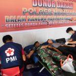 Polres dan Kodim Minahasa Sumbangkan Darah untuk Sesama  Dalam Rangka Hari Bhayangkara ke-72