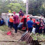 Gara-gara Laporan Palsu, Kendaraan Damkar Minahasa mengalami kecelakaan tunggal