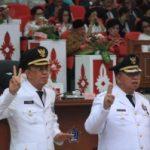 Di Lantik Gubernur Sulut ROR-RD jadi pemimpin rakyat dan mengawal Pembangunan Minahasa 5 Tahun