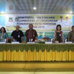 Lolowang Hadiri Monitoring Dan Evaluasi Kelembagaan Di Lingkungan Pemerintah Kota Tomohon Tahun 2018