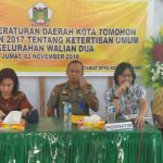 Ketua DPRD Tomohon Miky Wenur Sosialisasikan Perda No 7/2017 Tentang Ketertiban Umum