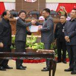Ketua DPRD Andrei Angouw pimpin rapat paripurna, Perda APBD Sulut 2019 resmi ditetapkan