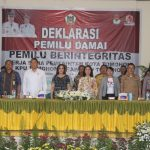 Ketua DPRD Miky Wenur, Hadiri Deklarasi Pemilu Damai