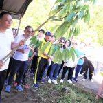 Walikota JFE Pimpin Jalan Sehat Dan Taman Pohon