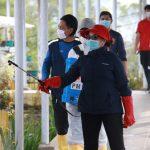 PMI  Minahasa  Lakukan penyemprotan Disinfektan Upaya Pencegahan Covid-19