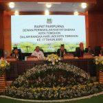 Rapat Paripurna DPRD HUT Kota Tomohon Ke-17