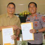 Pemkot Tomohon Dan Kepolisian Resor Tomohon Tandatangani Naskah Perjanjian Hibah Daerah
