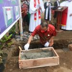 Wawali Wenny Lumentut, Hadiri Peletakan Batu Pertama Pembangunan Gedung Serbaguna GMIM Anugerah Paslaten